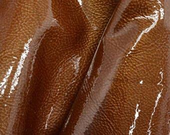 """Fashion Golden Cider Brown Leather Cow Hide 8"""" x 10"""" Pre-cut 2-2 1/2 ounces DE-63039 (Sec. 4,Shelf 2,A)"""
