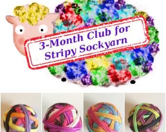 3-month Club for Stripy Sockyarn (September, October, November)