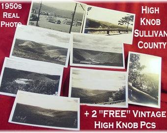 High Knob Sullivan County PA - Caulkins Real Photo Postcard Lot - Worlds End State Park + 4 FREE - Williamsport Pennsylvania - FREE Shipping