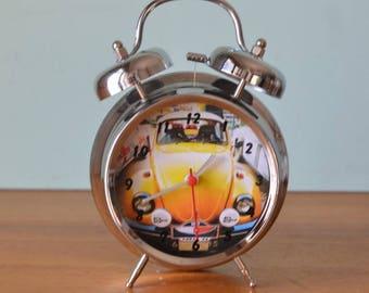 Vintage style portable alarm clock beetle PUT3