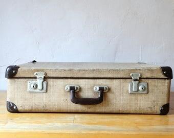 Antique Beige Suitcase, Travel Valise, Old Luggage, Suitcase Table, Suitcase Trunk, Travel Trunk, Luggage Bag, Cardboard Suitcase, Suitcase,
