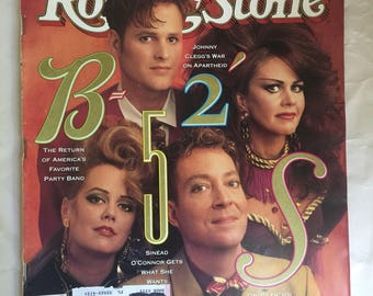 Vintage Rolling Stone magazine B-52's Special College Issue 574 March 22 1990
