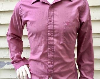 Etienne Aigner Vintage Long Sleeved Button Down Dress Shirt Men's Size 16 34/35