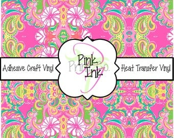 Beautiful Patterned Craft Vinyl and Heat Transfer Vinyl Pattern 143