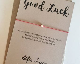 Wish Bracelet - Good Luck sentiment card with envelope