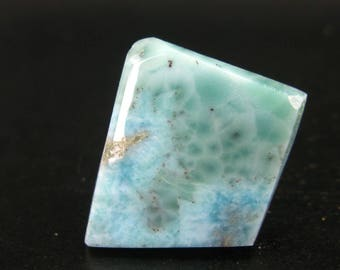 """Rare Blue Polished Larimar From Dominican Republic  - 1.2"""""""