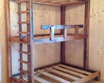 bunk beds etsy. Black Bedroom Furniture Sets. Home Design Ideas