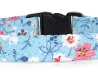 Noddy & Sweets Adjustable Cat Collar with bell and charm [Meadow Blue]