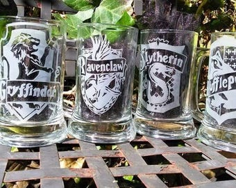 Etched Harry Potter mugs