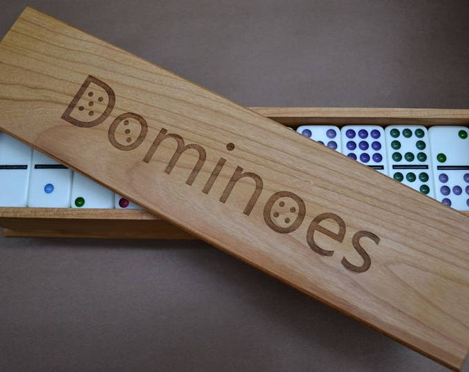 Engraved, Fingerjointed Domino Box (Three sizes; price INCLUDES shipping!)