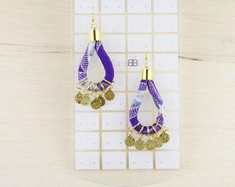 Ankara earrings, boucles d'oreilles, boucles d'oreilles wax, afrikanische ohrringe, bijoux en pagne, textile jewelry, textile jewellery