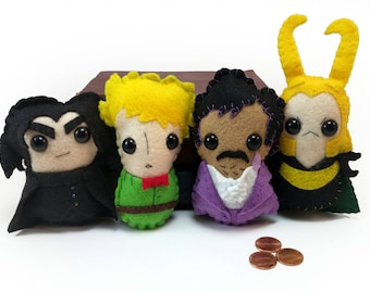 The Prince Pack plushies