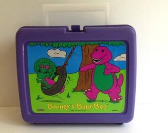 1992 BARNEY & BABY BOP Thermos Brand Lunch Box