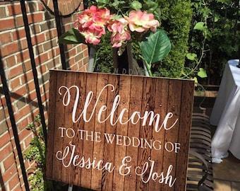 Wedding Welcome Sign - Rustic Wedding Welcome Sign - Wedding Gift - Welcome Sign - Rustic Wedding Decor - Rustic Wood Sign