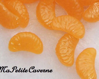 miniature clementine slice polymer resin