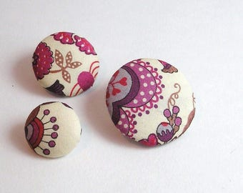 Liberty Mabelle 28 mm purple button