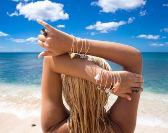 Shell or Sea Glass bangle add on