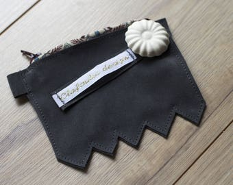 Door wallet leather genuine Grey Velvet for money and credit card