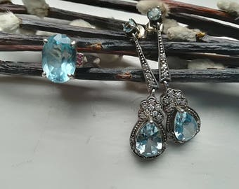 925 Silver earring and ring set