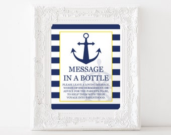 Message In A Bottle, Nautical Baby Shower, Item 206