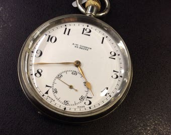 Chrome pocket watch ,works perfectly