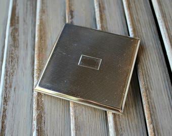 Vintage. Compact. mirror. Silver. Purse/mirror. 1960s. Cute!