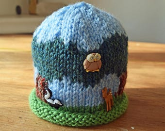 Child's Picture Hat: 'In the Woods'