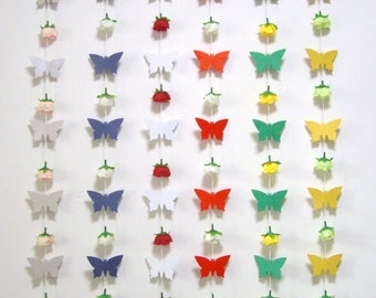 Butterfly Garland,Banner,Backdrop Curtain,Bridal Baby Shower decor,Wedding Ceremony,Birthday,Party Garland,Hanging Butterfly,Photo Props