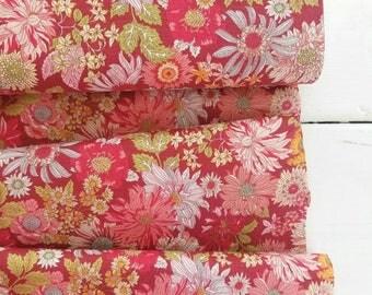 Memoire a Paris Cotton Lawn Fall 2017 - Large Floral (Red)  - Lecien - Japan, Inc