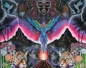 Large Print *Cuando Los Cielos Lloran* visionary art