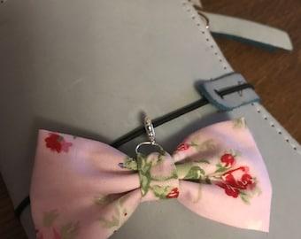 Fabric bow charm