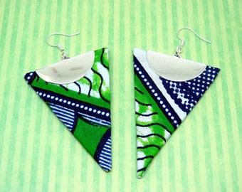 Triangle pattern wax earrings