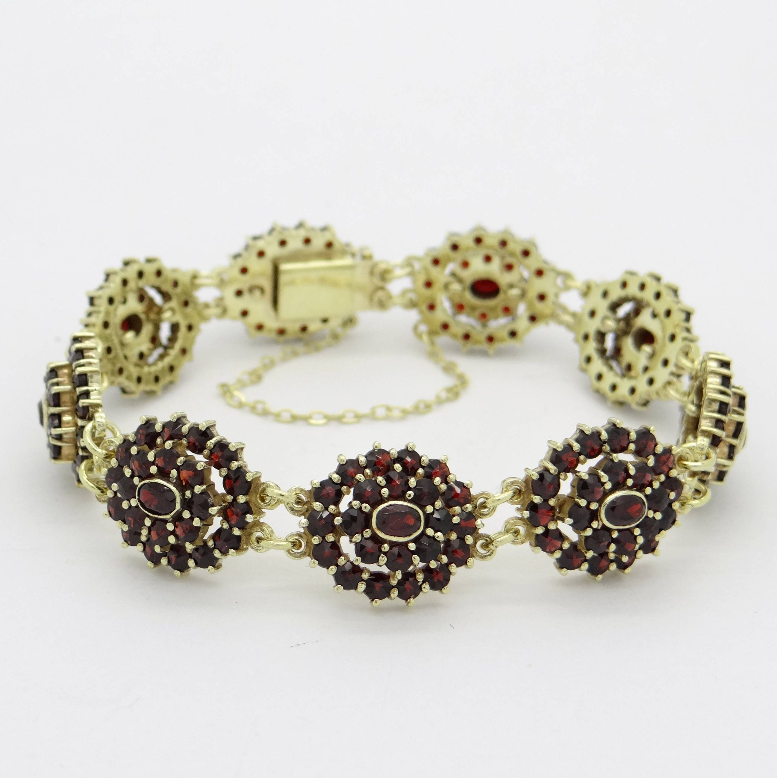 fullxfull bracelet tiny au birthstone january garnet stone red listing zoom il