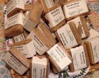 Grab Bag Bars, Drastic Clearance cold process handmade soap Rock Bottom price