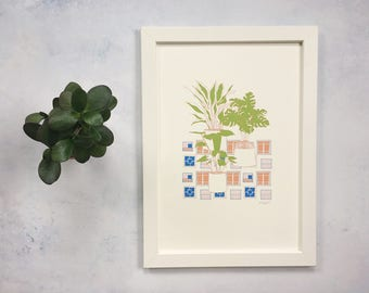 Art Print - Plants & Windows