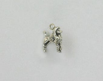 Sterling Silver 3-D Poodle Charm