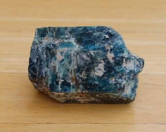 Rough Blue Apatite Specimen Crystal