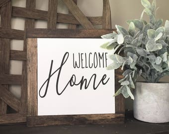 Welcome Home Farmhouse style mini sign
