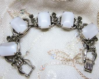 "Vintage Rhinestone Jewelry -  ""Juliana"" Bracelet - Book Piece - DeLizza and Elster - Verified"