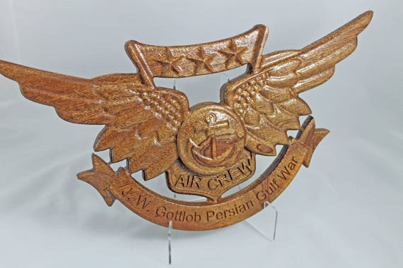 Combat Air Crew, Aviation Wings, aviation art, aviation, carved wings, wooden wings, air crew wings,  EGA, combat aviation, naval aviation