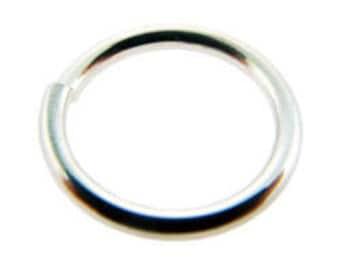 "Open Jump Ring Sterling Silver 13.2mm ID x .055"" (15ga)(Pkg 5)(900S-13255)"
