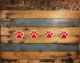 Chicago Flag, City of Chicago, Chicago Art, Chicago, Vintage Sign, Vintage Chicago, Chicago Sign, wooden signs, Chitown, dog paws, dogs