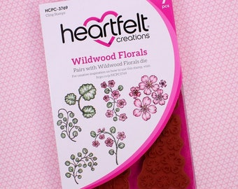 Heartfelt Creations Cling Rubber Stamp Set ~ Wildwood Florals, HCPC3769