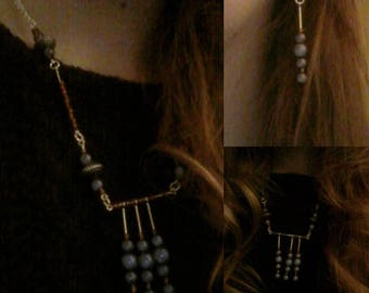 VioletBomb set Necklace and Earrings