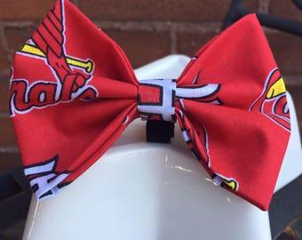 Cardinals Collar Bow Tie