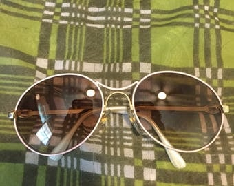 Vintage Gold Filled Pink Bugatti Sunglasses 80s