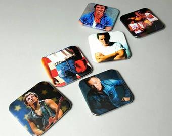 Bruce Springsteen, Fridge Magnets, The Boss, Custom Magnets, Strong Magnets, Magnet Set, America, Magnet Set, Photo Magnets, Magnet Art