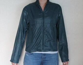 Blue  Windbreaker Vintage Hipster  Jacket   Parka  Oversized  Women  Lightweight Girls