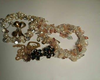 Vintage Jewelry wear or repair lot