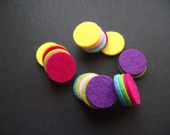 25mm Aromatherapy Oil Diffuser Pads,Scent Diffuser Pads,Multi Color Felt Oil Diffuser Pads,Aromatherapy Locket Jewelry Diffuser Pads